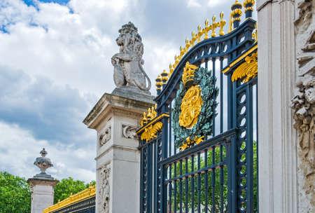 buckingham palace: London, a gate of Buckingham palace Editorial