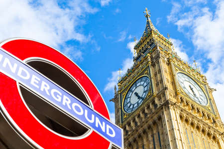 big ben tower: London, the Big Ben tower of Westminster palace Editorial