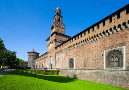 sforzesco: Milan, Italy - May 3, 2012:  The Castello Sforzesco