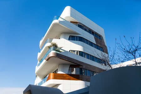 residences: Milan, Italy - January 26, 2015:  City Life, the Hadid Residences
