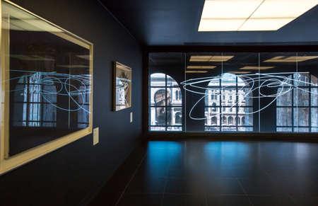 twentieth: Milan, Italy - April 12, 2012: Architectures of the interior of the Museum of the twentieth century