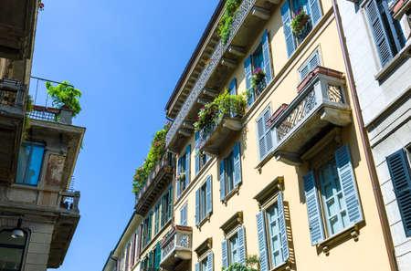 quarter: Italy, Milan,houses of the Brera quarter Stock Photo