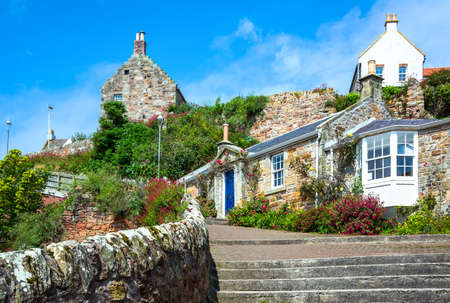 fife: Crail, Scotland - July 26, 2012:  Fife area, traditional houses of the village. Editorial