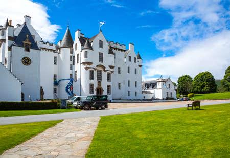 Perthshire, Scotland - July 27, 2012:  Blair Atholl, the Blair castle, home of the Duke of Athool.