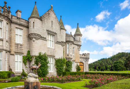 royal family: Aberdeenshire, Scotland - July 27, 2012: The Balmoral castle, summer residence of the British Royal Family.