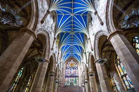 giles: Great Britain, Scotland, Edinburgh, the gothic interior of the St. Giles cathedral.