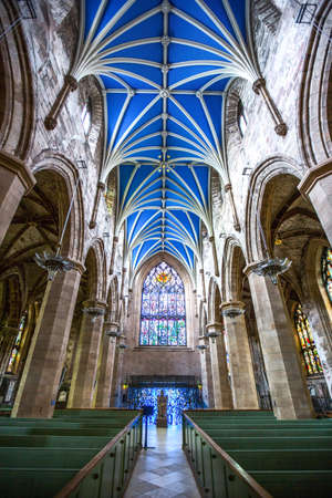 giles: Great Britain, Scotland, Edinburgh, the gothic interior of the St. Giles cathedral