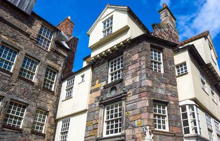 mile: Great Britain, Scotland, Edinburgh, Royal Mile, Canongate, the John Knox house. Editorial