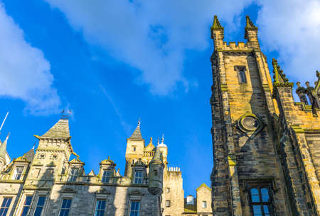great britain: Great Britain, Scotland, Edinburgh, upward view of the Mount palace Editorial
