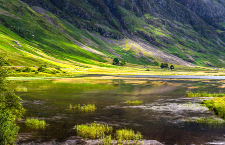 great britain: Great Britain, Scotland, Highlands, the famous Glen Coe mountains. Stock Photo