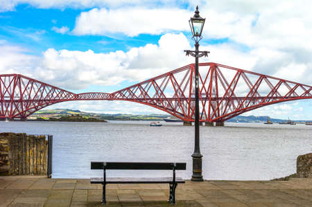 lothian: Great Britain, Scotland, Lothian area, the Forth Rail Bridge seen from South Queenferry