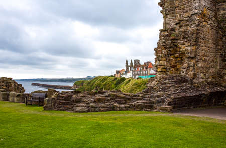 fife: Great Britain, Scotland, Fife area, St Andrews, the village seen from the Castles ruins
