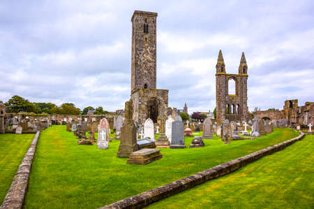 Great Britain, Scotland, Fife area, St Andrews, the Cathedrals cemetery