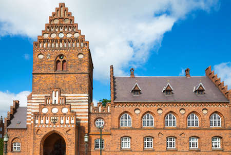 townhall: Roskilde, the main facade of the Town Hall