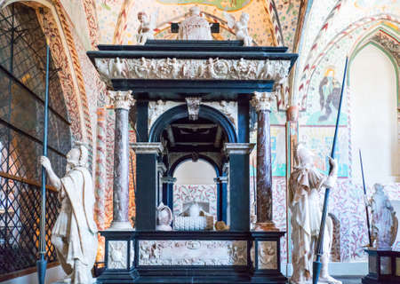 the magi: Roskilde, Denmark - July 23, 2015:  The Chapel Of The Magi (Christian I Chapel) in the medieval Cathedral Editorial