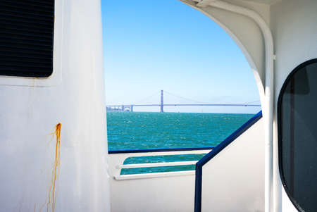 bay bridge: San Francisco, California, the Bay Bridge seen from a ferry making a cruise on the bay
