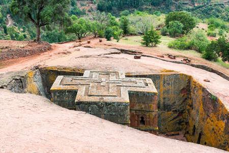 george: Ethiopia, Lalibela, the monolithic underground Saint George Orthodox church