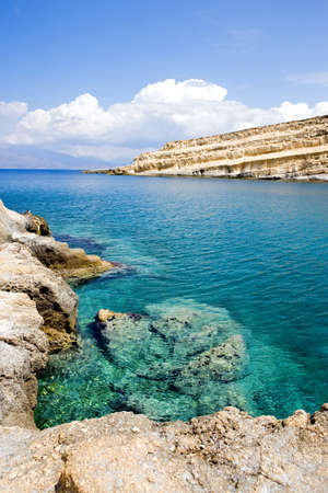 Greece, Crete, the Matala bay frequented by hippies in the 70s.
