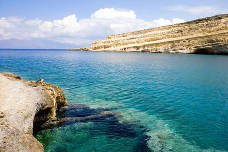 frequented: Greece, Crete, the Matala bay frequented by hippies in the 70s.
