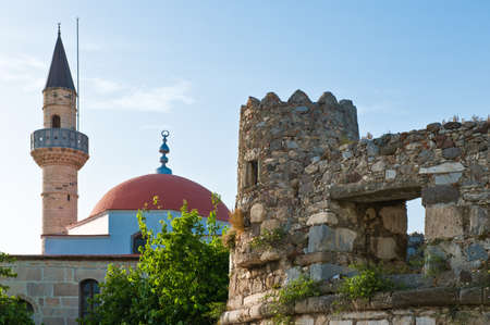 Greece, Dodecanese, Kos, the city medieval walls and the Defderdar Mosque