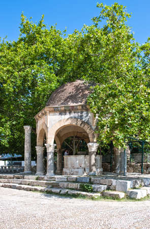hippocrates: Greece, Dodecanese, Kos, the Hippocrates tree and the lavatory of the Adid Hasaan mosque Editorial