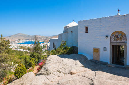 Greece, Dodecanese,Patmos, the Monastry and Cave of the Apocalypsis