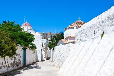 chora: Greece, Dodecanese,Patmos, the Chora village