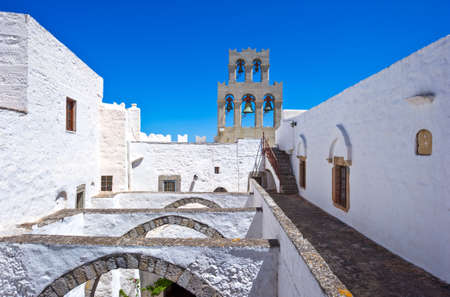 Greece, Dodecanese,Patmos, the Agios Joannis Theologos Monastry