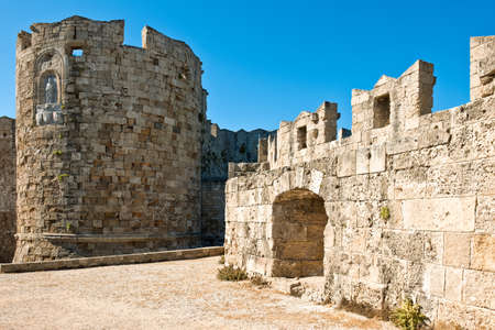 Greece, Dodecanese, Rhodes, the Gate of St. Paul