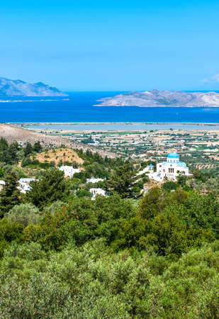 kos: Greece, Dodecanese, Kos, view on the islad from Zia village
