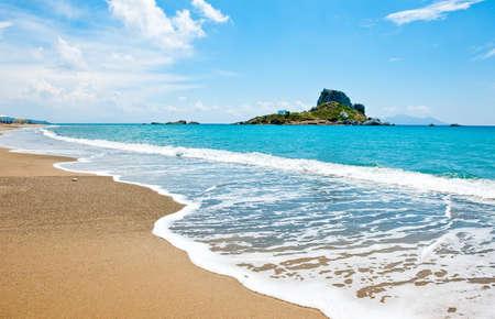 Greece, Dodecanese, Kos, the Kefalos bay and the Kastri little island
