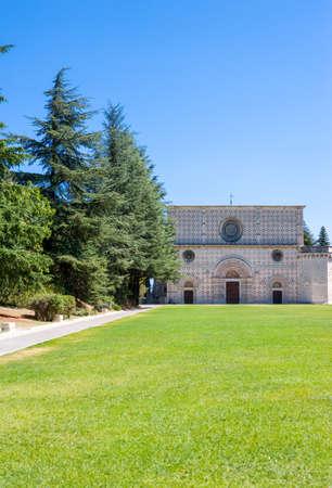 Italy, LAquila, the Santamaria di Collemaggio basilica (XIII century)