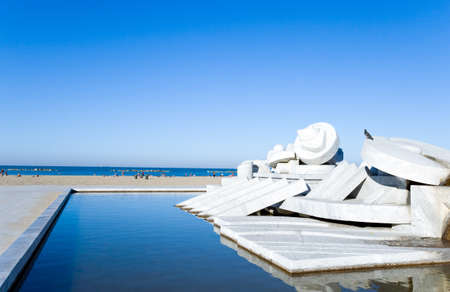 Pescara, Italy - September 4, 2006: The artwork La Nave by Pietro Cascella on the seafront