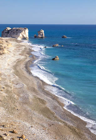 tou: Greece, Cyprus, the Petra Tou Romiou coast (Aphrodites Rock) who, according to legend, it is the birthplace of Aphrodite
