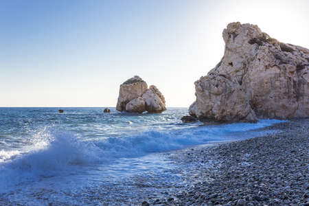 Greece, Cyprus, the Petra Tou Romiou coast (Aphrodites Rock) who, according to legend, it is the birthplace of Aphrodite