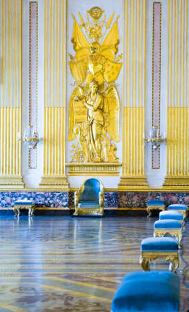 Caserta, Italy - March 9,2008:  The throne room of the Royal Palace