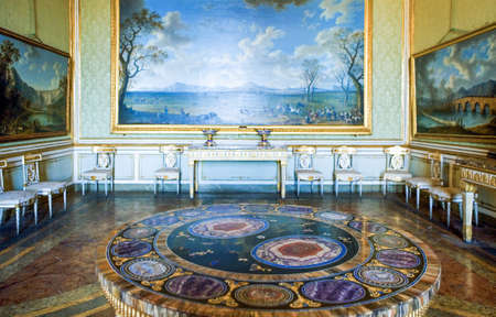 Caserta, Italy - March 9,2008:  A room of the  apartments of the Royal Palace