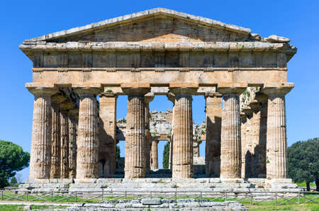 neptuno: Italy,Cilento, archaeological site of Paestum, the Temple of Neptune