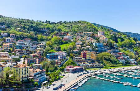 Italy,Cilento, Agropoli, view on the harbour Stock Photo