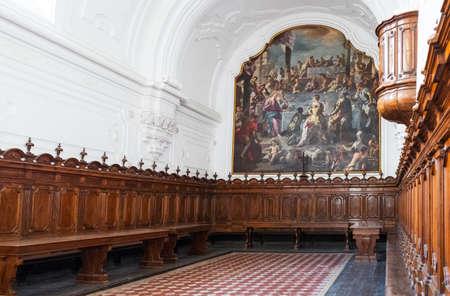 Naples, Italy - August 4, 2015:  Certosa Di San Martino, the oratorium.