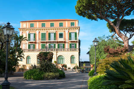 dependance: Sorrento, Italy -  November 15, 2015:  The dependance  of a luxury hotel in the country center
