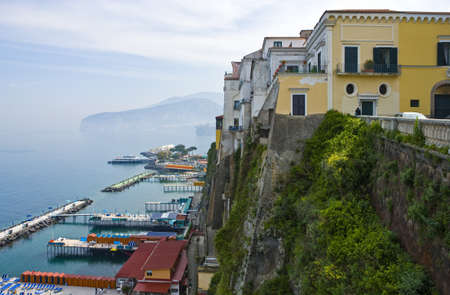 Italy, Campania,  Sorrento , bathing establishments seen from the old town