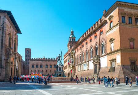 Bologna, Italien - 6. Mai 2016: Eine Gewerkschaftsmanifestation in Maggiore-Quadrat Editorial