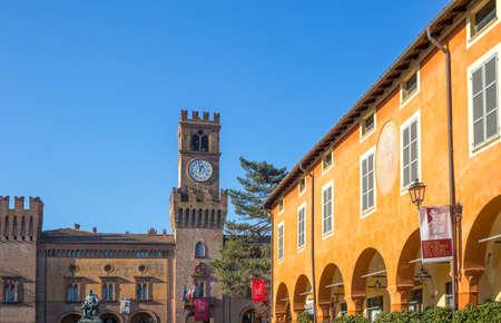 Busseto, Italy - November 29, 2013:  The view of the Pallavicino Rocca