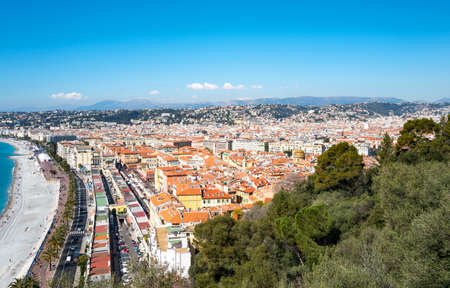 Nice, panorama of the city seen from the castle hill