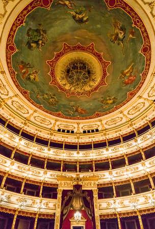 Parma, Italy - October 19, 2013: The Regio Theater indoor