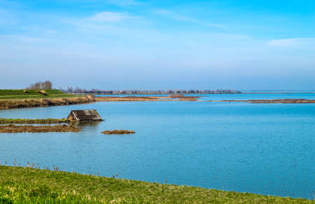 Italy, Po delta park, the south area of the Comacchio lagoon Stock Photo