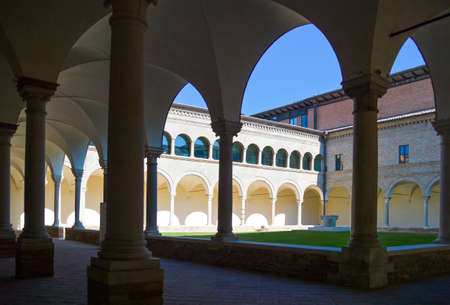 cloister: Italy, Ravenna, the antique cloister of the Franciscan friars, near the Dante Alighieri tomb.