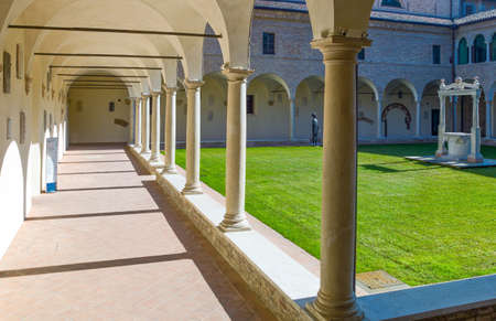 Italy, Ravenna, the antique cloister of the Franciscan friars, near the Dante Alighieri tomb.