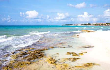 Playa Del Carmen, Mexiico, panoramic view of the beach